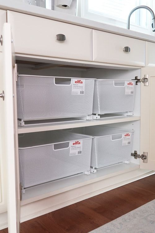 Organize Cabinets with Pull-Out Drawers
