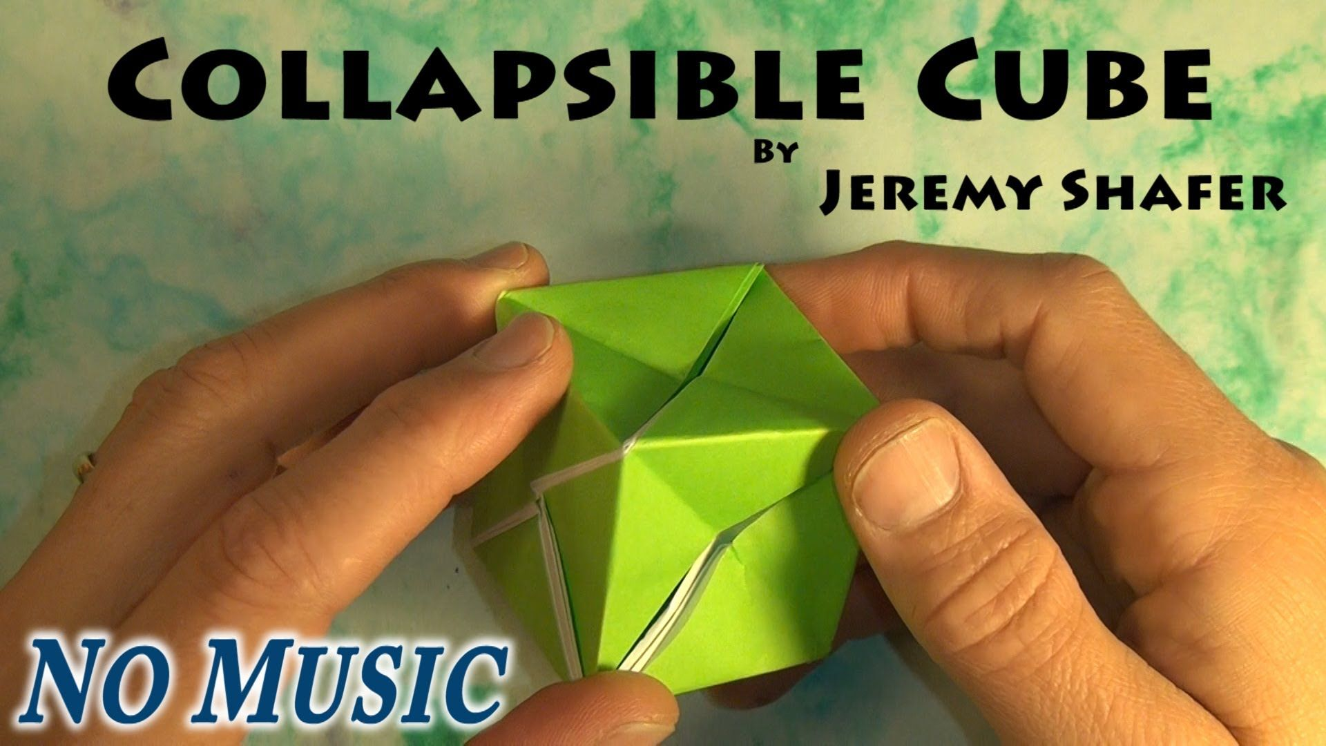 Collapsible Cube No Music Youtube Origami Cube Origami Box Origami
