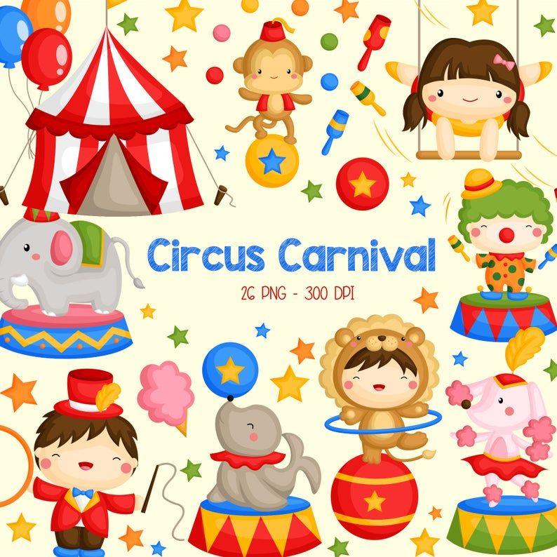 Circus Carnival Clipart Cute Circus Animal Clip Art Carnival Fun Free Svg On Request Clip Art Cartoon Clip Art Space Art