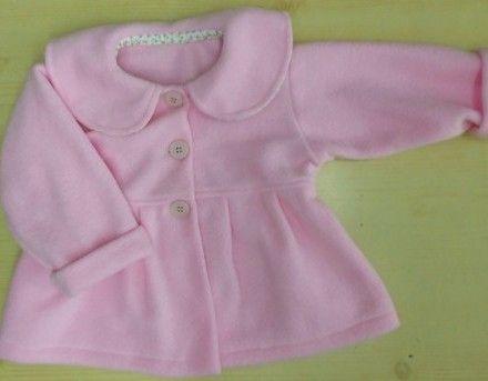 eb56afd0b Campera De Polar Tapadito Para Nenas Y Bebes   ROPA   Baby dresses ...