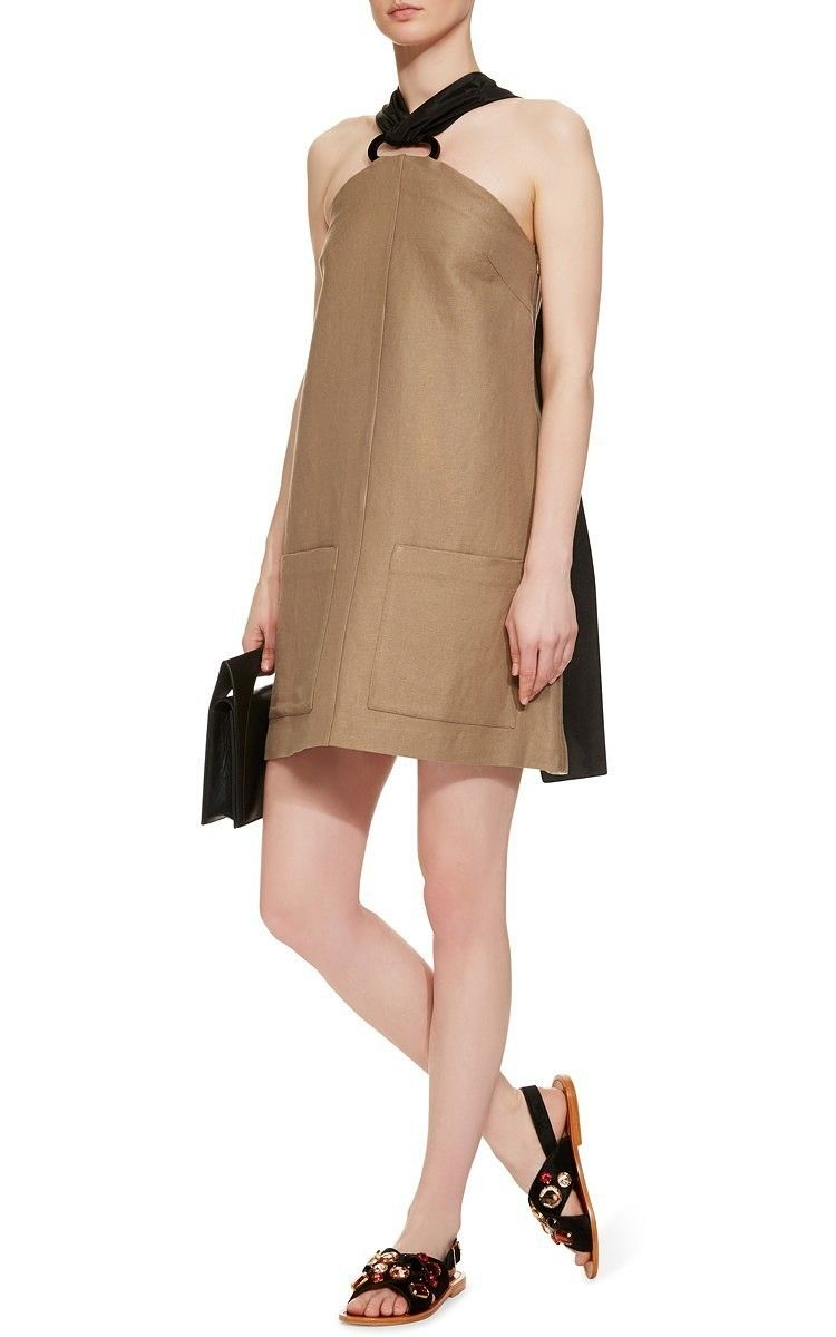 A-Line Mini Dress With Plexi Loops by Isa Arfen Now Available on Moda Operandi