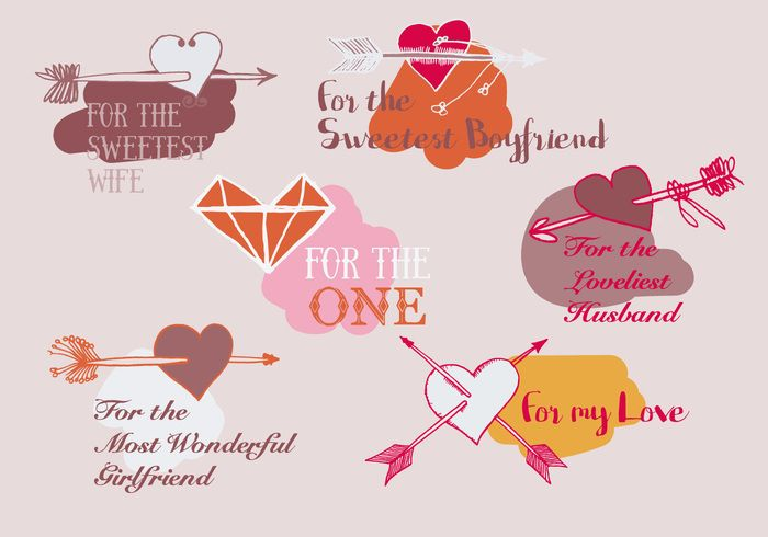 Free Valentines Day Vector Background With Arrows Holidays
