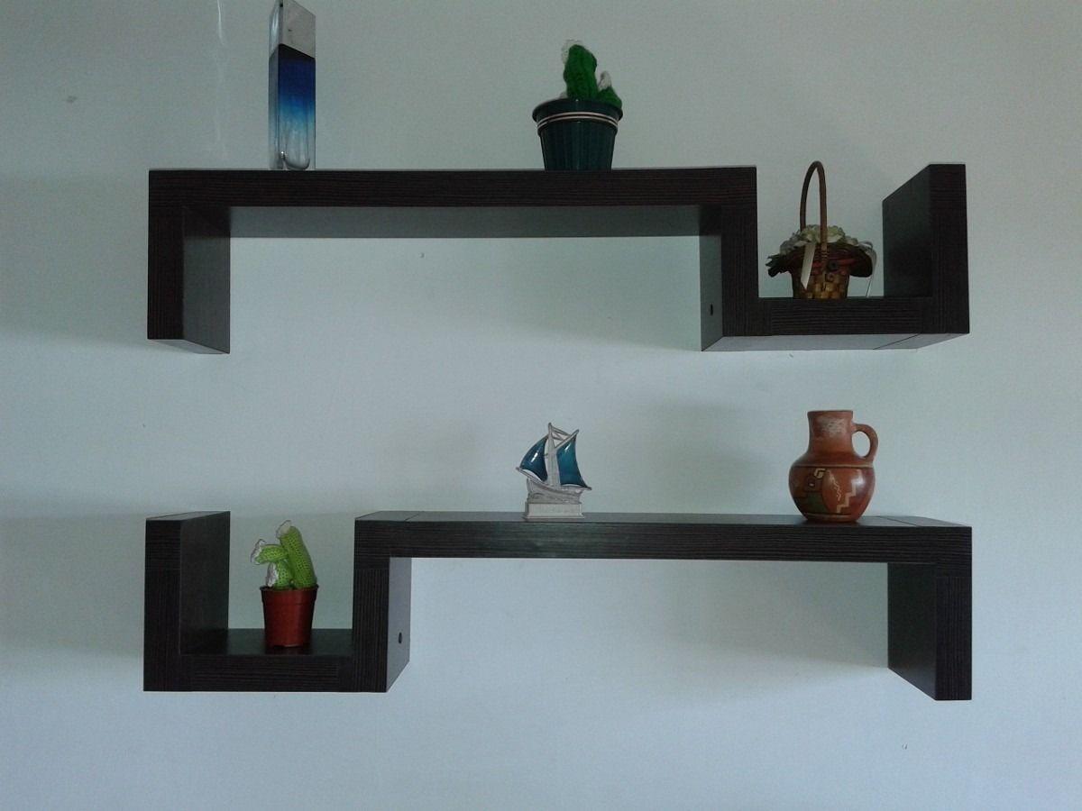 Repisas flotantes de melamina peque os muebles pared for Repisas espacios pequenos