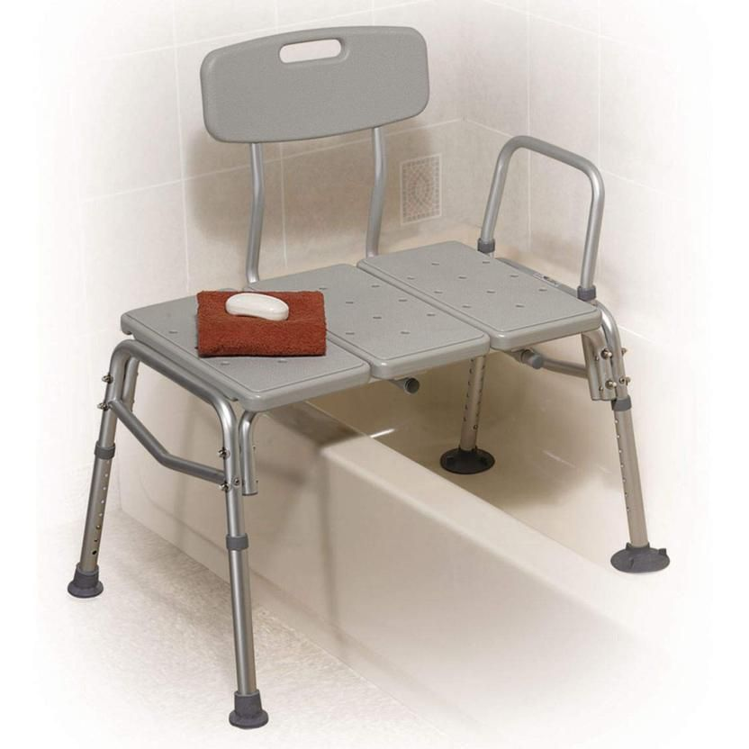 Bathtub Transfer Bench With Back For Seniors Adjustable Shower Chair Bathroom Shower Seat For Disabled Transfer Bench Shower Chair Stools With Backs