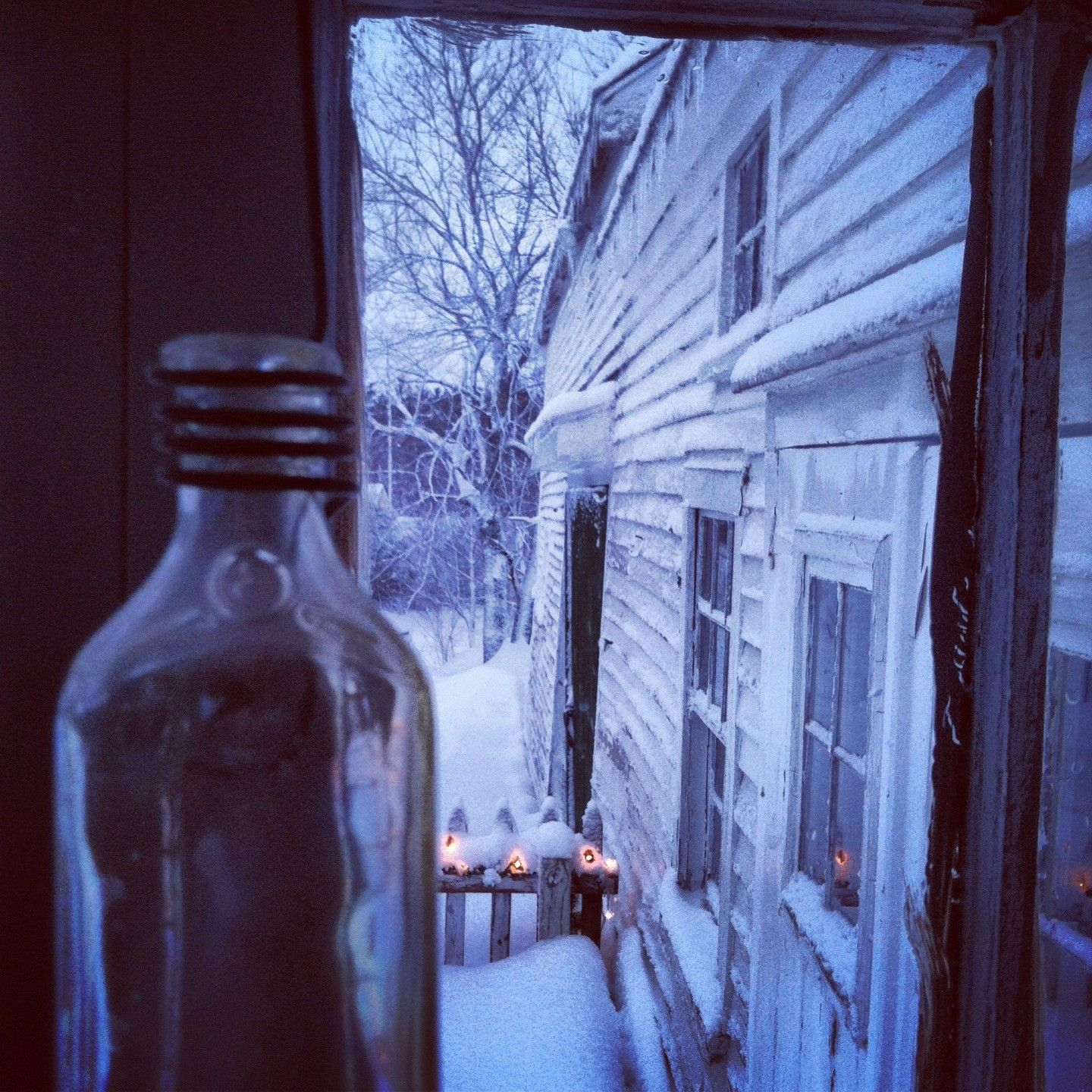 Brisk Winter Morning said the Barn to the Bottle.