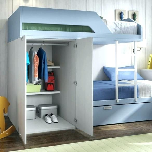 Best Loft Beds With Closet Wardrobes Bunk Beds Built Into 640 x 480
