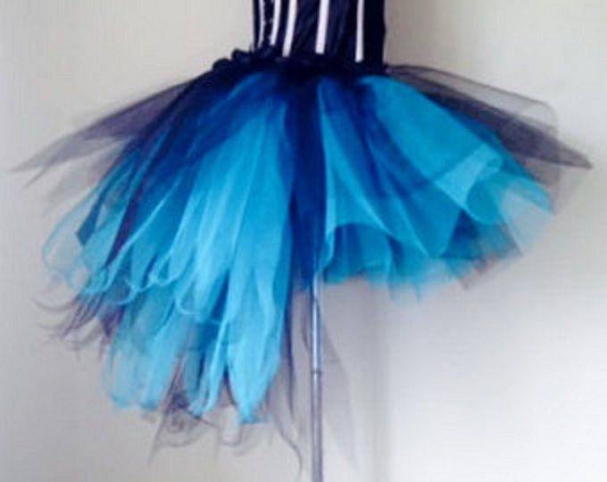 BURLESQUE//SHOWGIRL. FEATHER BUSTLE WITH BOW TURQUOISE