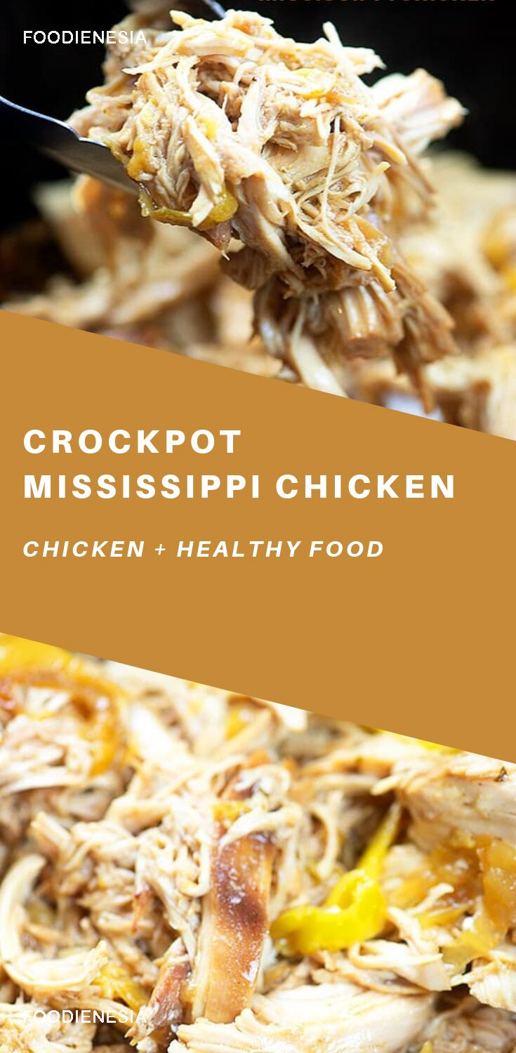 this slow cooker shredded chicken comes out flavorful and
