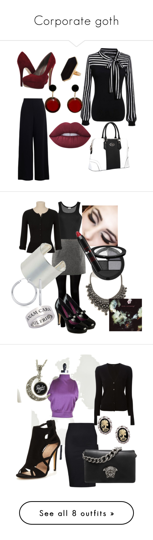 """""""Corporate goth"""" by barbarasprague liked on Polyvore"""