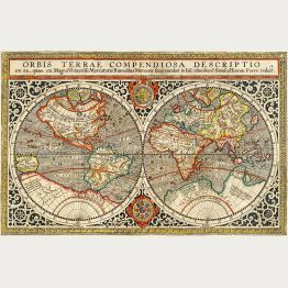 Authentic World Map.Original Antique World Maps Of The 16th To 18th Century Only