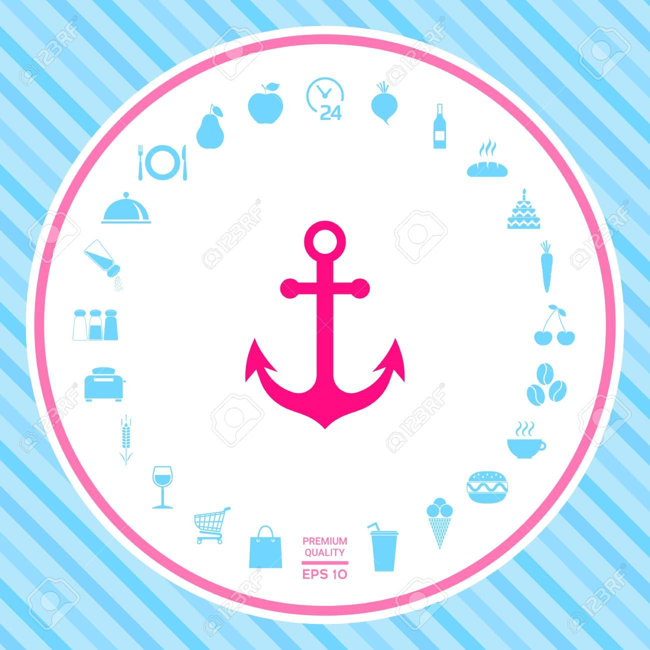 Anchor Icon Symbol Affiliate Anchor Icon Symbol In 2020 Anchor Icon Symbols Peace Symbol