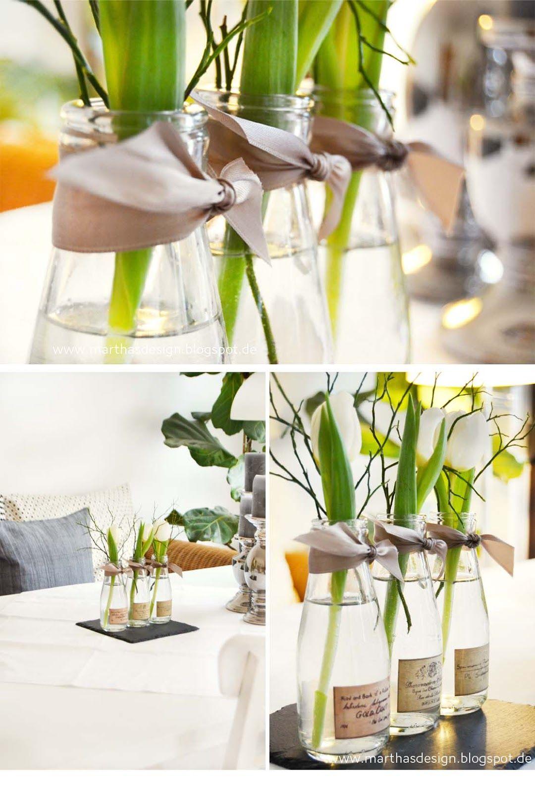 martha s living deco von tulpen und narzissen fr hlingsdeko pinterest tulpen. Black Bedroom Furniture Sets. Home Design Ideas