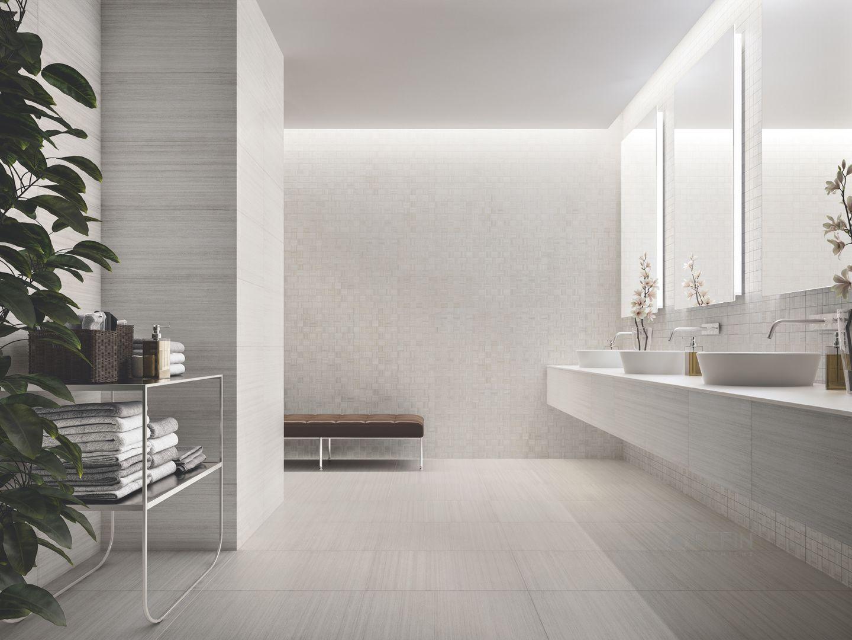 Fusion White 606x0 30x60 Mosaico 30x30 Ceramiche Refin Spa Porcelain Stoneware Tiles Bathroom Interiordesign Stone Look Tile Home Ceramic Tiles