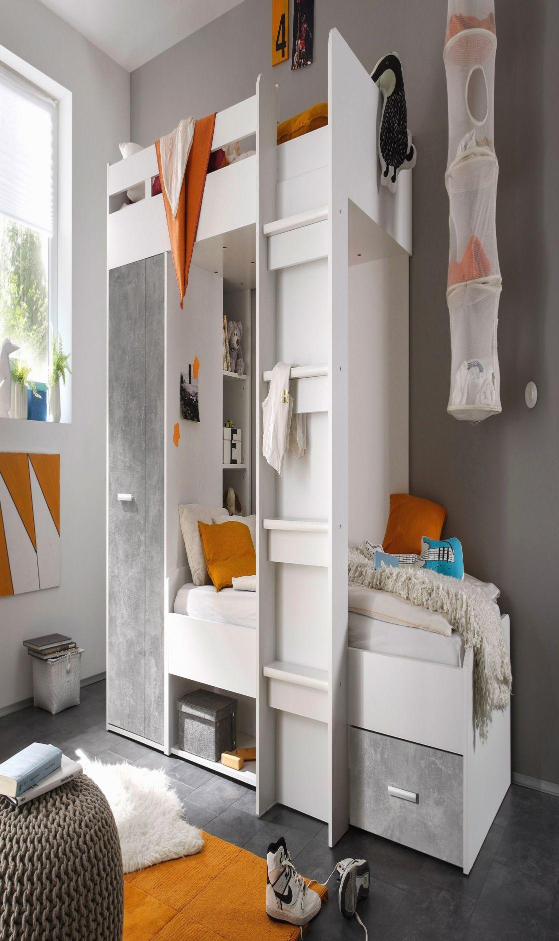 12 Schön Hochbett Schreibtisch Schrank   Etagenbett, Hochbett mit ...