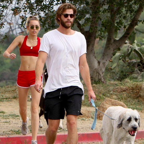 Miley Cyrus and Liam Hemsworth Hiking in LA April 2017 ...