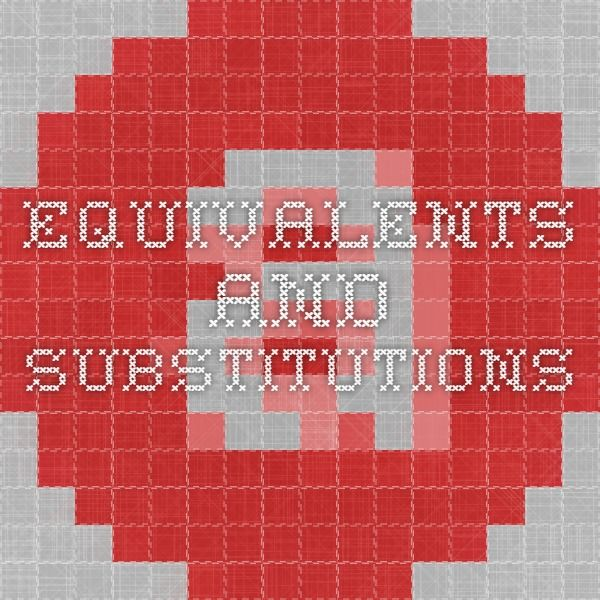 Equivalents and Substitutions