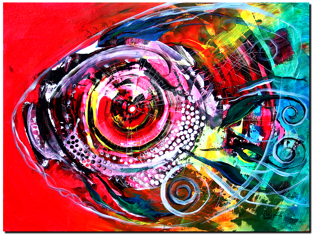 Abstract Dream Premium Collection Original Modern Abstract Fish Art ...