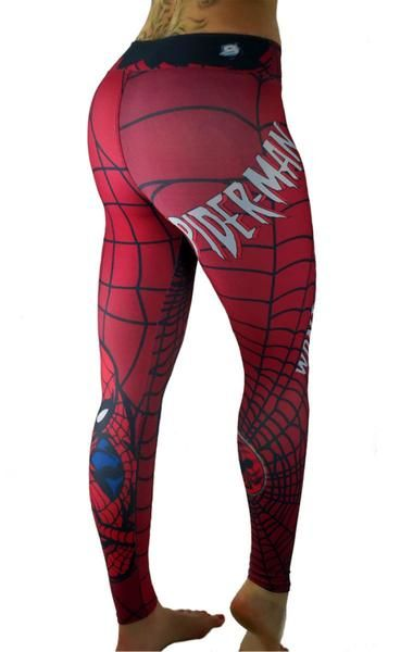eda97435e2050 S2 Activewear - UNISEX Red Spider-Man Leggings - Roni Taylor Fit. Find this  Pin and more on workout gear by Patricia. Tags. Superhero Leggings