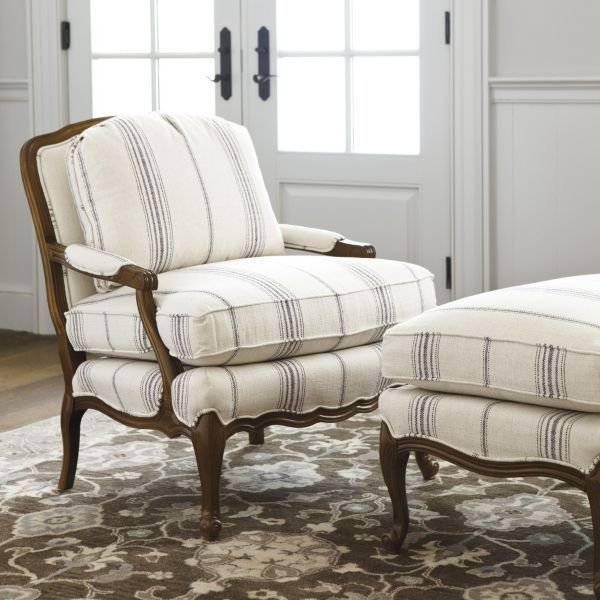 Bergere Chair and Ottoman  Home  Bergere chair Chair