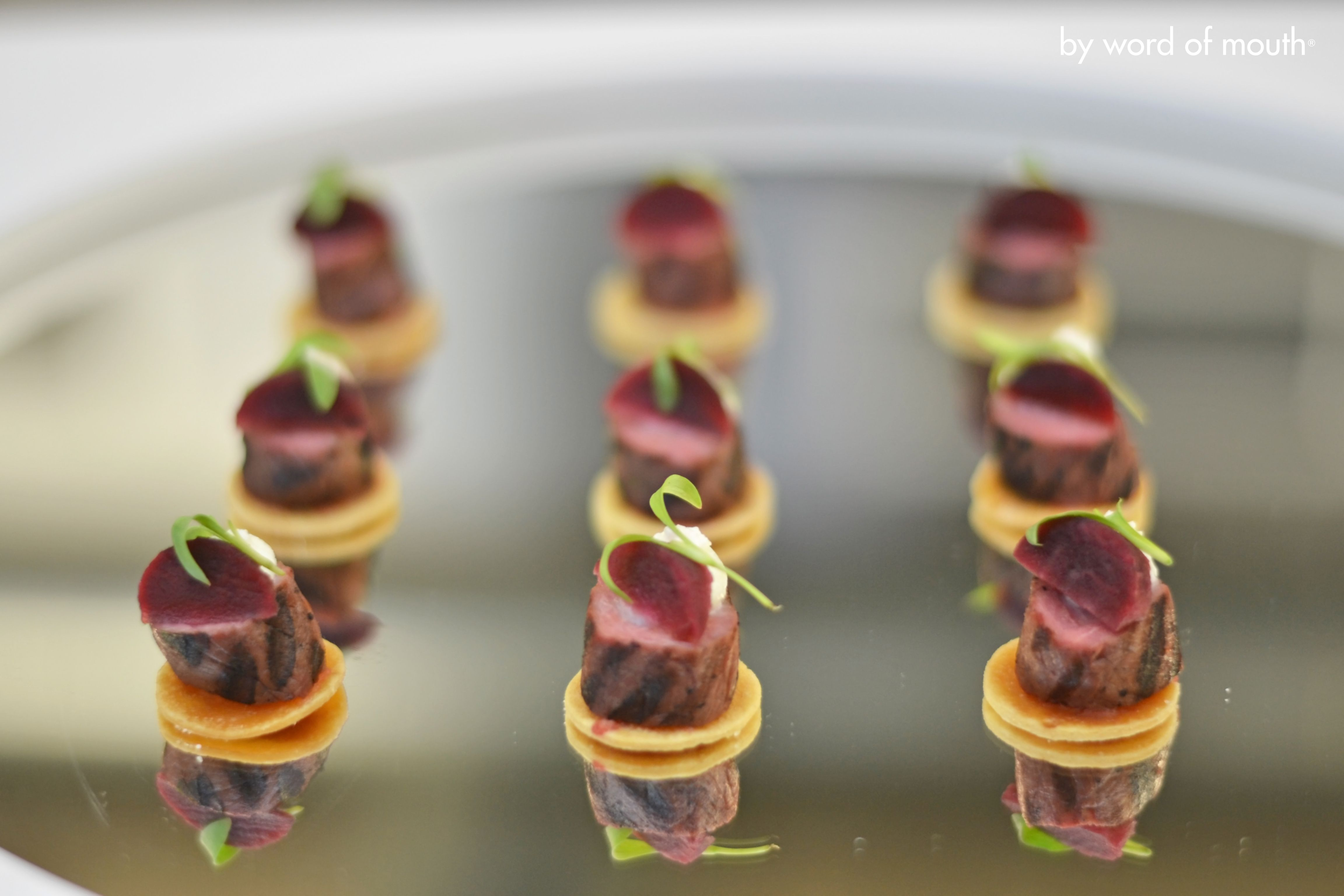 Canape Hh Cold Canape Fillet Of Lamb With Pickled Baby Beetroot And
