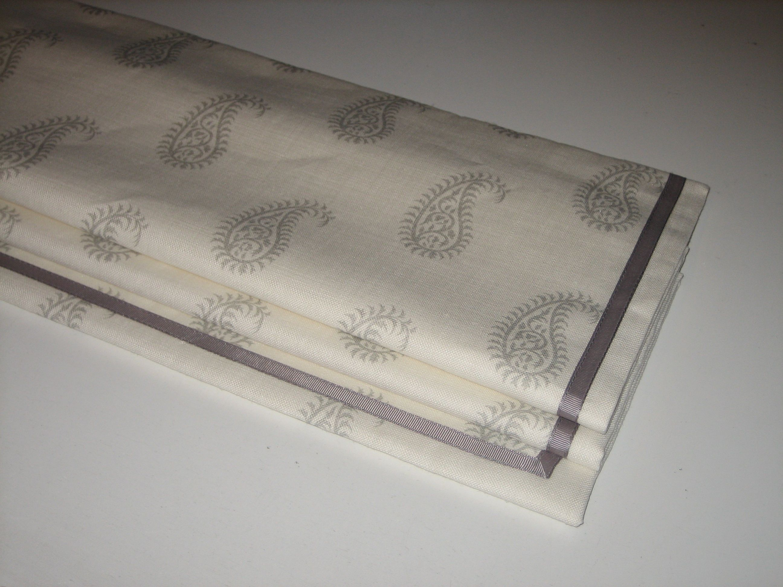 Roman Blind In Pasha By Peony & Sage With A Grosgrain