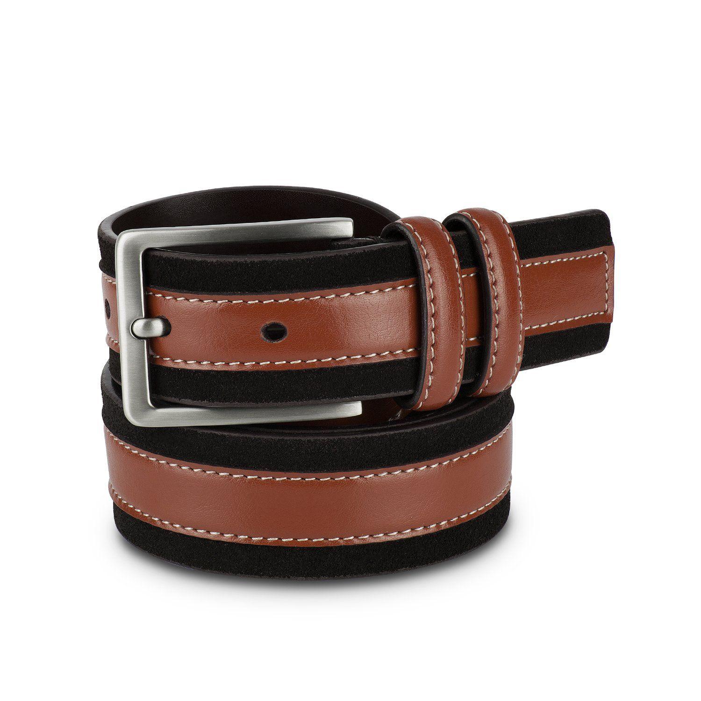 Brown and black mens belt mens belts suede leather belt
