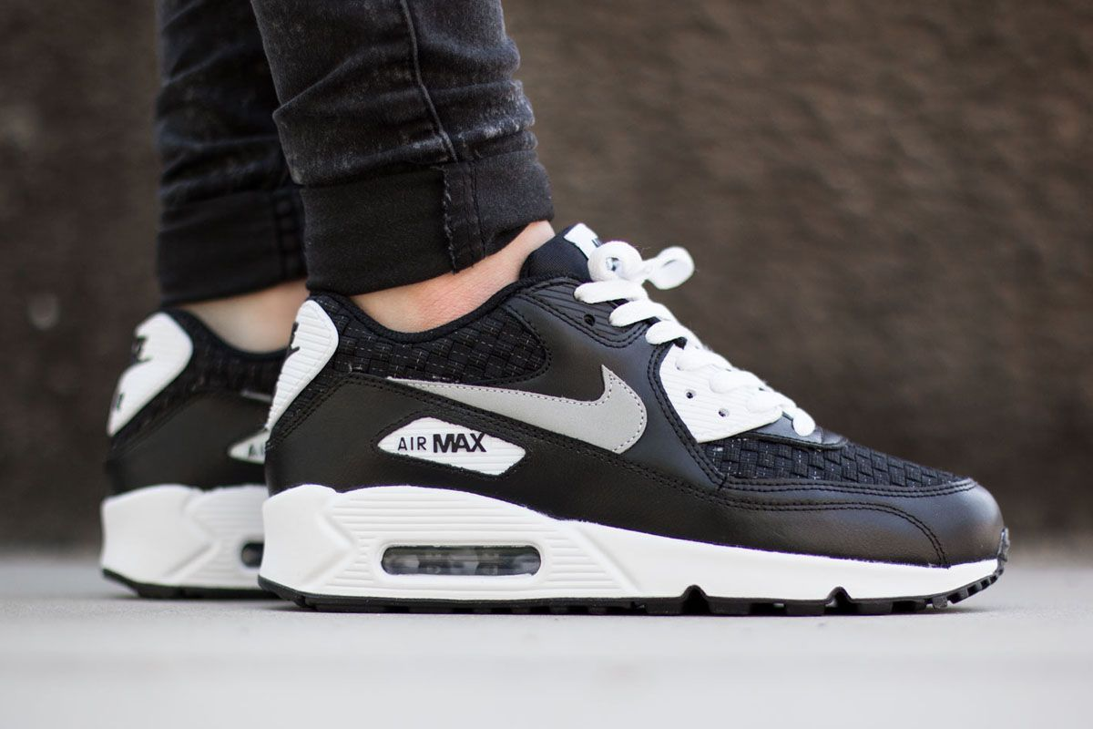 Nike Air Max 90 Formateurs En Cuir Haut De Gamme Wow