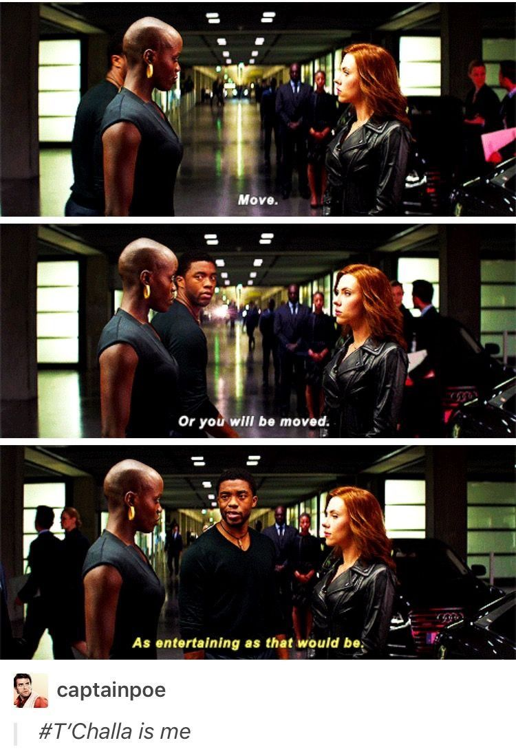 I like that Natasha shows appropriate concern before T'challa steps