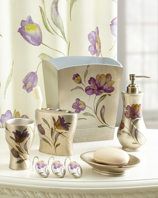 Bathroom Accessories In Lilac With Images Purple Bathroom