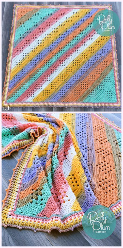 Crochet Granny in the Sky with Diamonds Blanket Pattern | Red Heart ...