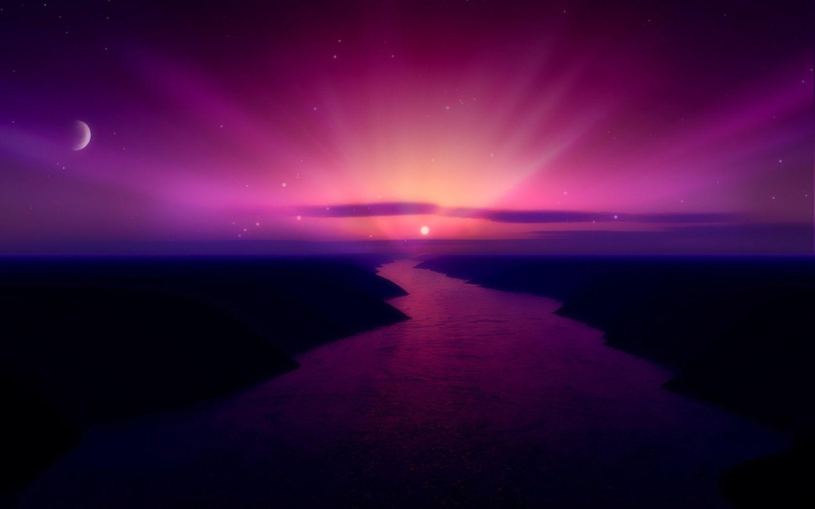 Purple Morning Purple Sunrise Wallpapers Hd Wallpapers Sunrise Wallpaper Sunset Wallpaper Scenery Wallpaper
