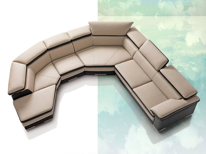 Ultra-Modern Leather Sectional Sofas Part I Furniture - contemporary curved sofa