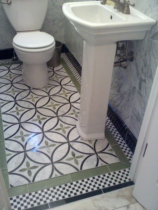 Half Bath Floor Idea Transitional Bathroom Design Pictures Remodel Decor And Ideas Page 7