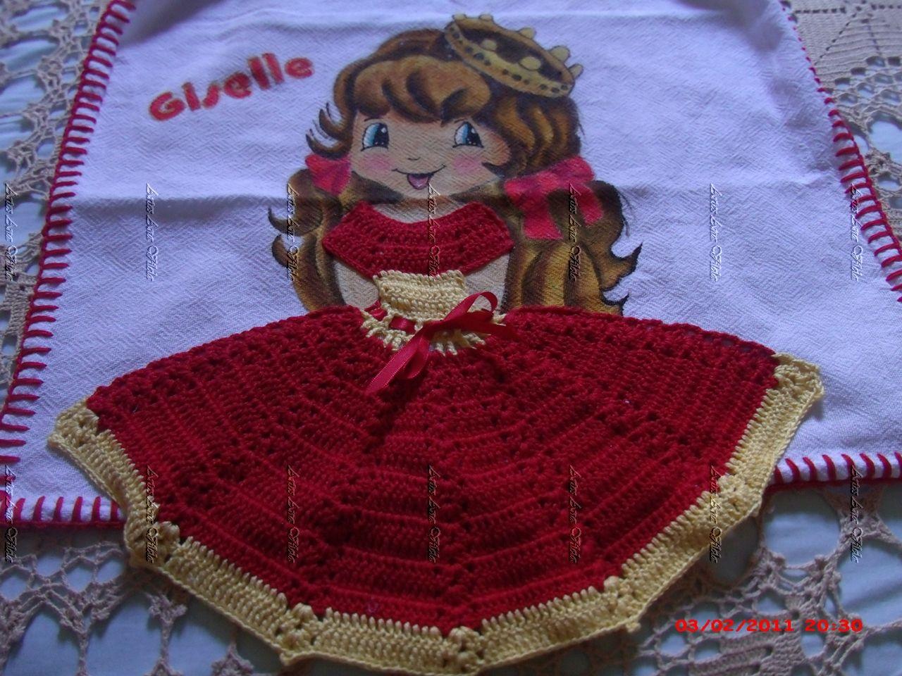 Pintura em pano de prato bonecas   rendas   Pinterest   Mädchen und ...