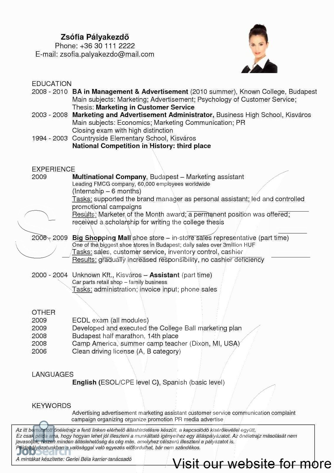Job Objective Examples Objective Resume Ideas Objective For