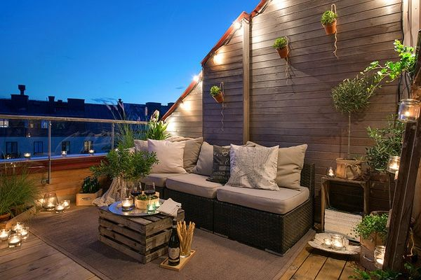 terrassen deko sommer garten balkon terrasse und. Black Bedroom Furniture Sets. Home Design Ideas
