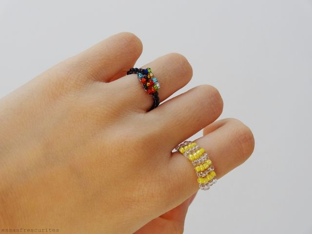Essas Frescurites aí : DIY: Anéis de Contas Coloridas