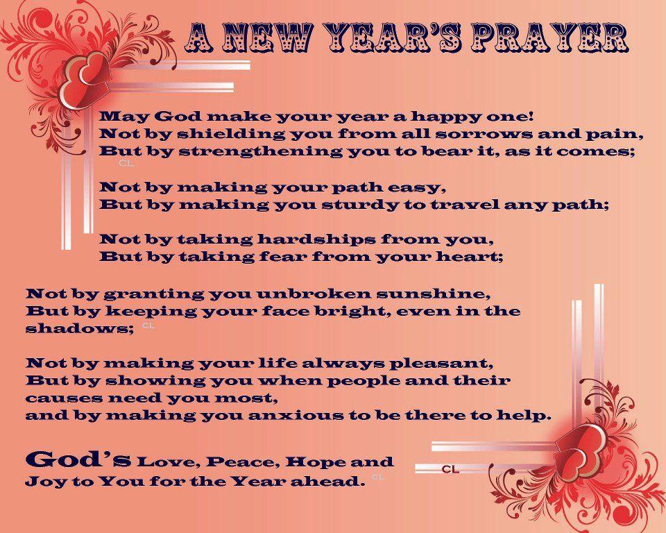 HAPPY NEW YEAR'S PRAYER | Holiday- New Year | Pinterest ...