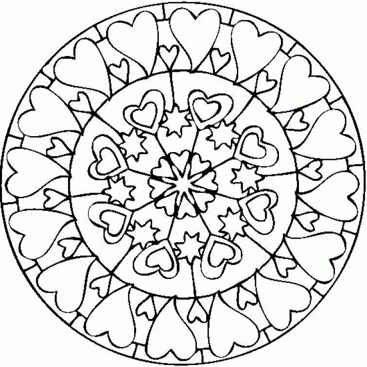 Heart Mandala Printable Coloring Page Free Letscolorit Com Valentine Coloring Pages Heart Coloring Pages Valentines Day Coloring Page
