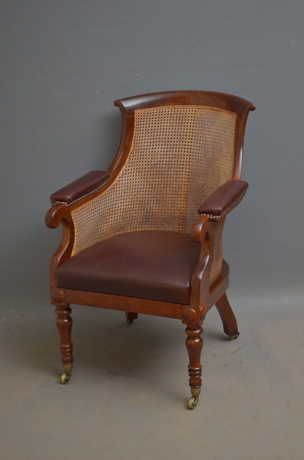 Early Victorian Mahogany Library Chair in 2020 White