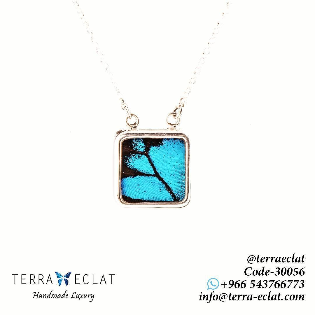 30056 Natural Butterfly Wing Necklaces Papilio Ulysses 14mm X 14mm Get Yours Now By Visiting Our Kiosk Locat Unique Gemstones Real Butterfly Wings Jewelry Art