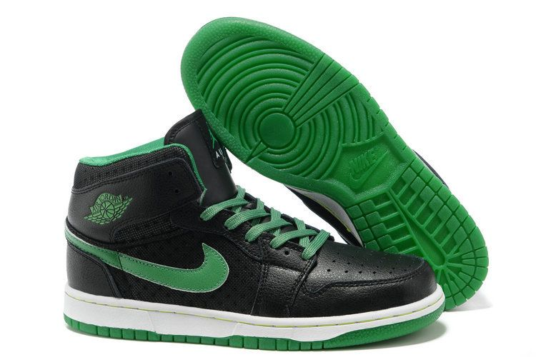 b6fe6e2b3344 Jordan 1 black green men basketball shoes