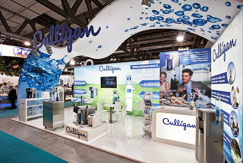 Exhibition Stand Water Features : Host fair milano event stand exhibition design