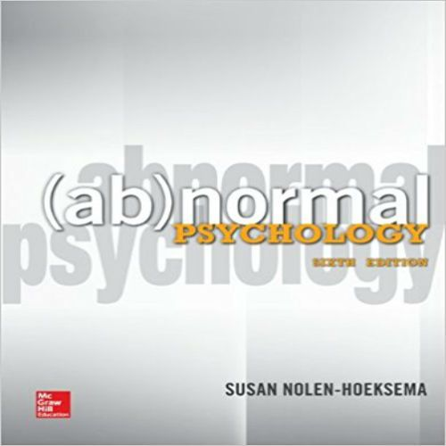 Instant download solutions manual for abnormal psychology 6th instant download solutions manual for abnormal psychology 6th edition by nolen hoeksema pdf 0078035384 978 fandeluxe Choice Image