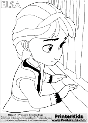 DISNEY FROZEN   Young Elsa   Coloring Page 17