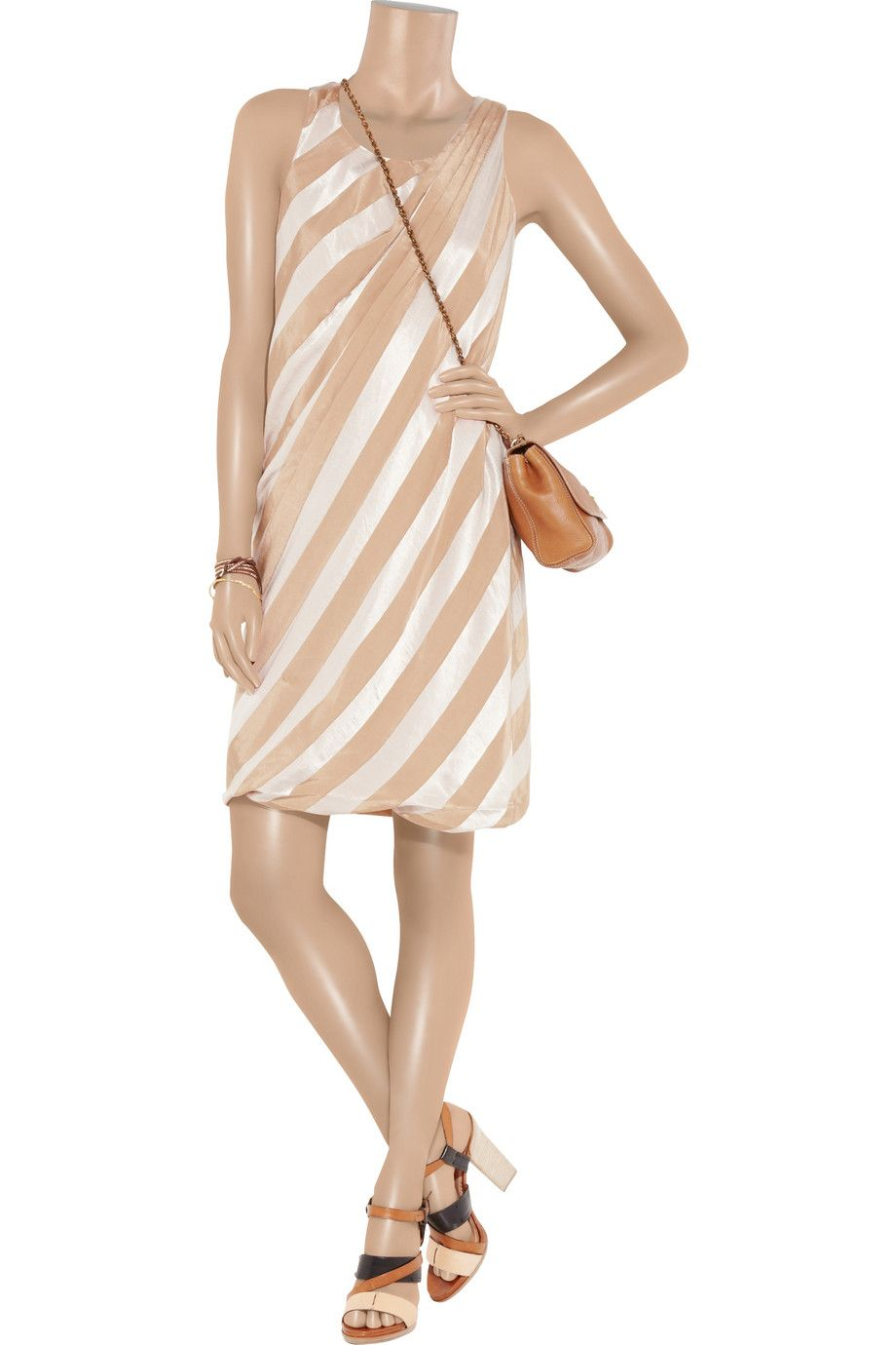 J.Crew Farrah striped satin dress - 76% Off Now at THE OUTNET