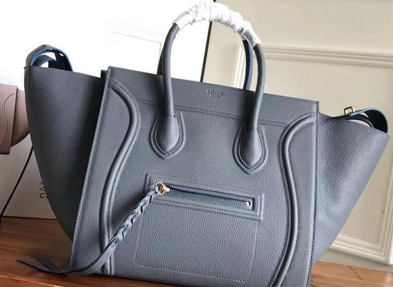 2ee1fb923e84 2018 Celine Luggage Phantom Bag in Original Grained Leather grey ...
