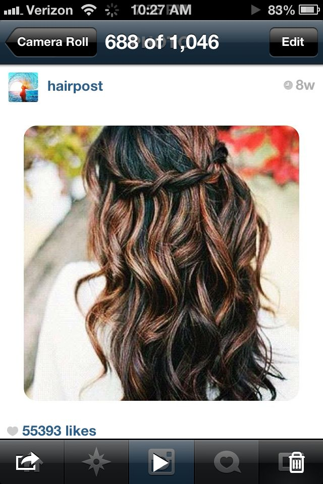Dark Brown Hair With Highlights Perfect For Winter Hair