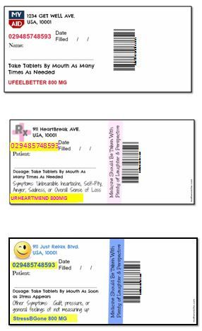 Fake Prescription Candy Labels Mother S Niche Pill