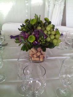 Cork filled centerpiece wine themed centerpiece ginas wedding cork filled centerpiece wine themed centerpiece junglespirit Image collections